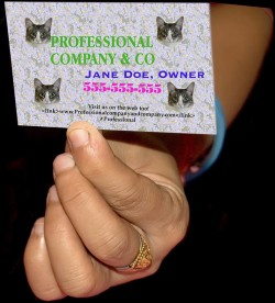 Jane Doe didn't hire a professional design agency! Example of PhotoShop in the hands of a novice.